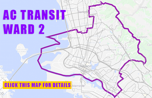 AC Transit Ward 2 Map
