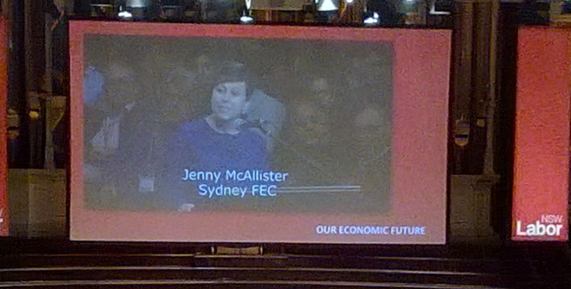 Jenny McAllister speaking at 2014 NSW ALP State Conference