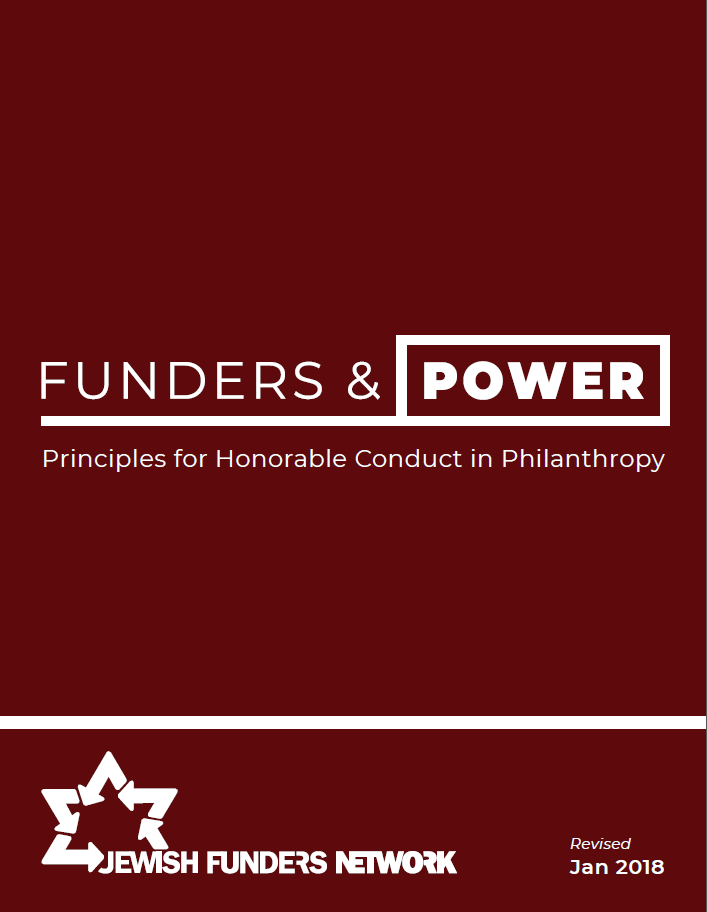 Funders & Power: Principles for Honorable Conduct in Philanthropy