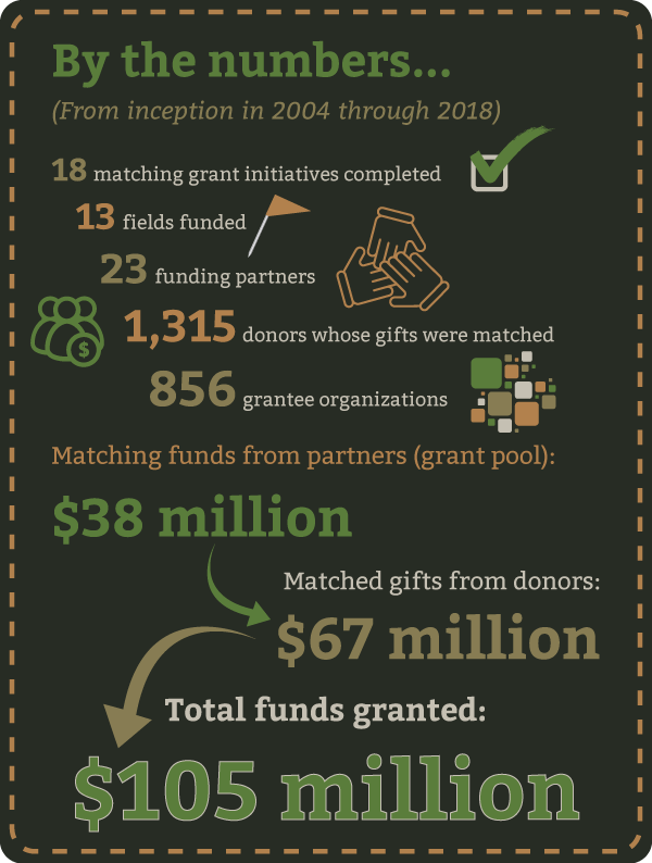 Matching grant initiatives by the numbers
