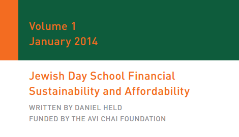 Jewish Day School Financial Sustainability and Affordability