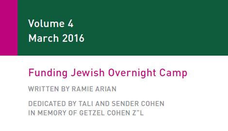 Funding Jewish Overnight Camp