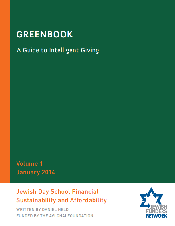 Greenbook: Day School Financial Sustainability & Affordability