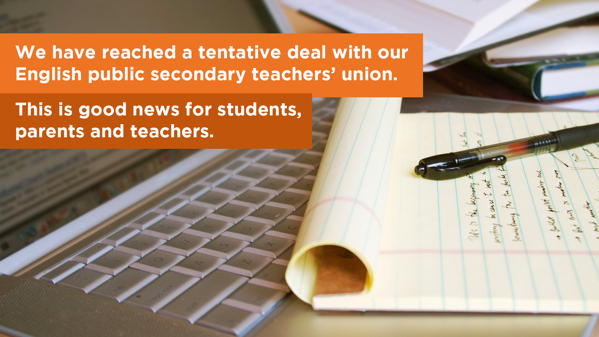 Tentative Agreement reached with OSSTF - April 20