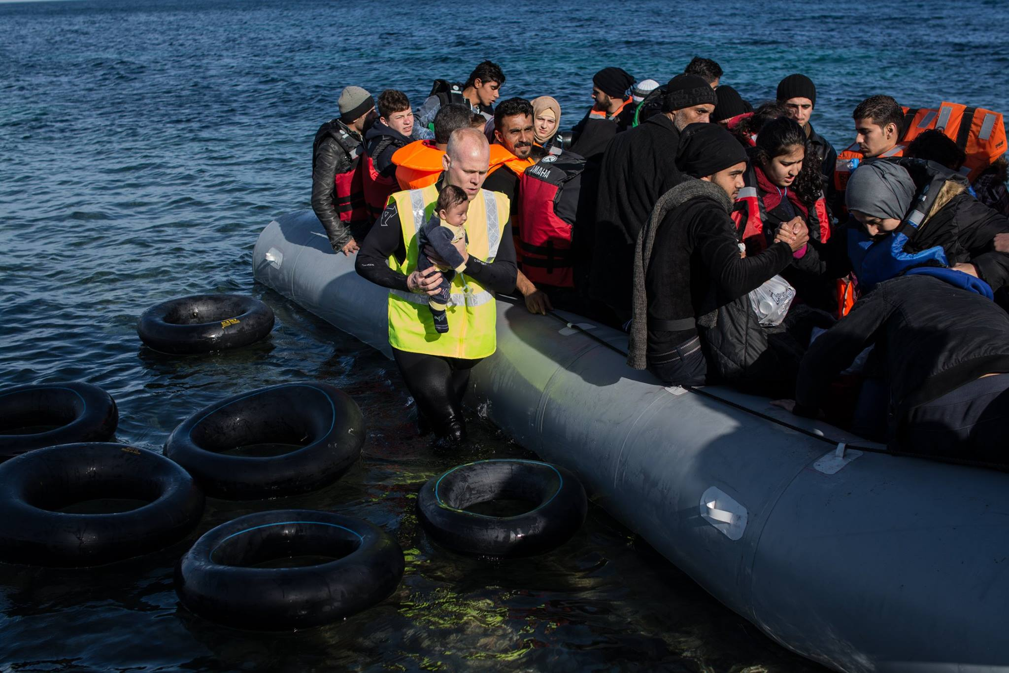 Keady helps refugees in the Aegean Sea