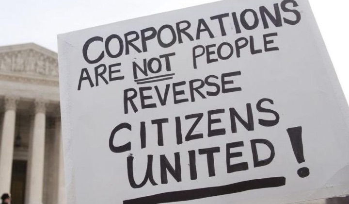 Citizens United sign