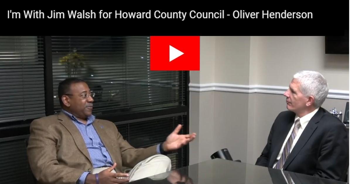 Oliver Henderson Endorses Jim Walsh