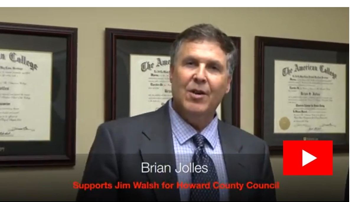 Brian Jolles Endorses Jim Walsh For County Council