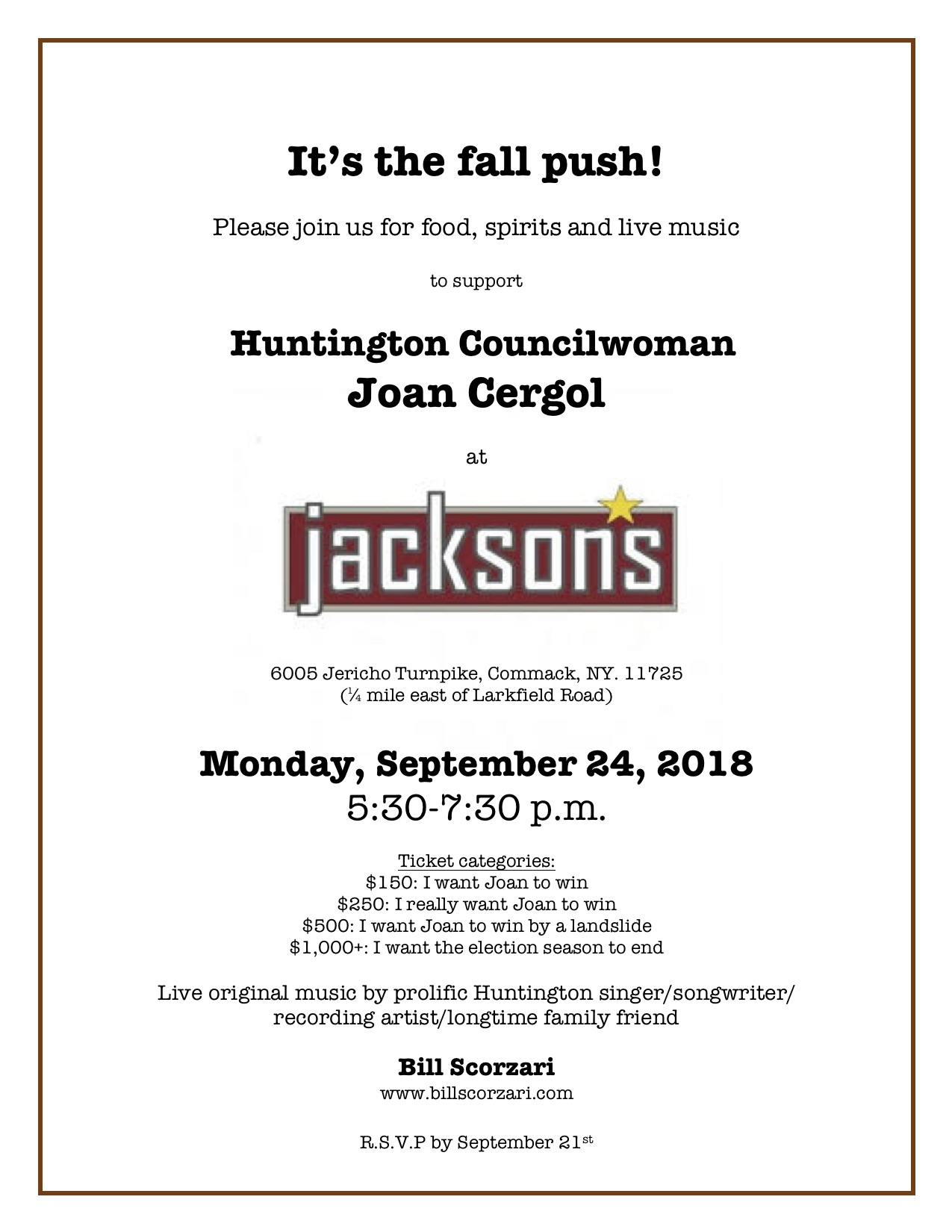 Fall Push Invitation