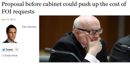 Brandis to push up the cost of FOI