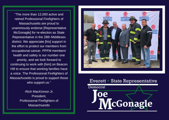 Joe McGonagle and Firefighters