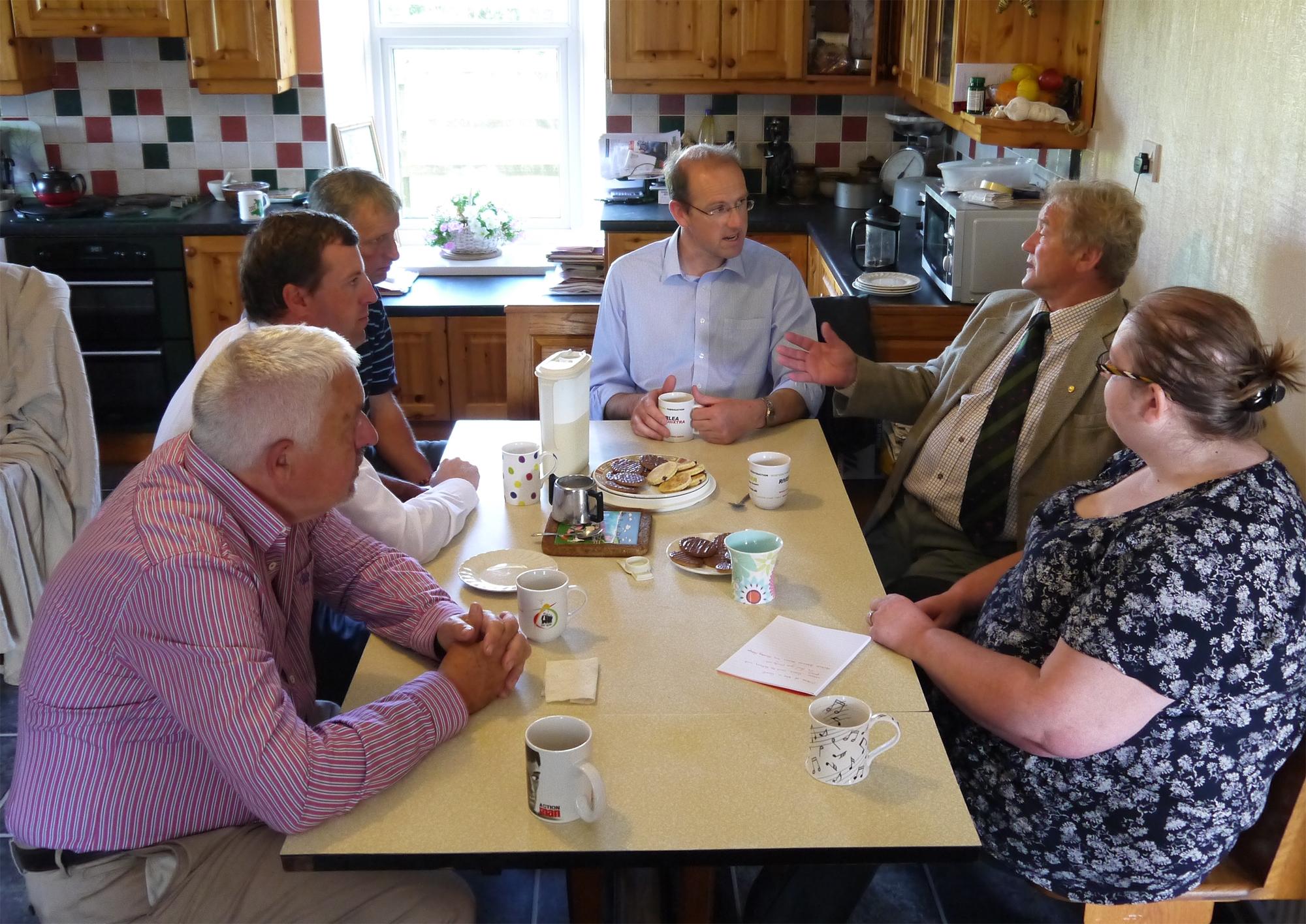 Jonathan Edwards, Llyr Huws Gryffydd meeting the FUW.