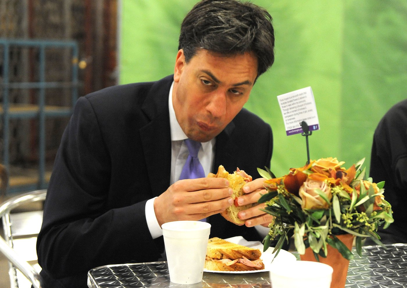 The problem for Labour isn't the fact Ed Miliband can't eat a bacon sandwich, it's that it came to define everything about Ed in 30 seconds|Photo: Eyevine/Redux