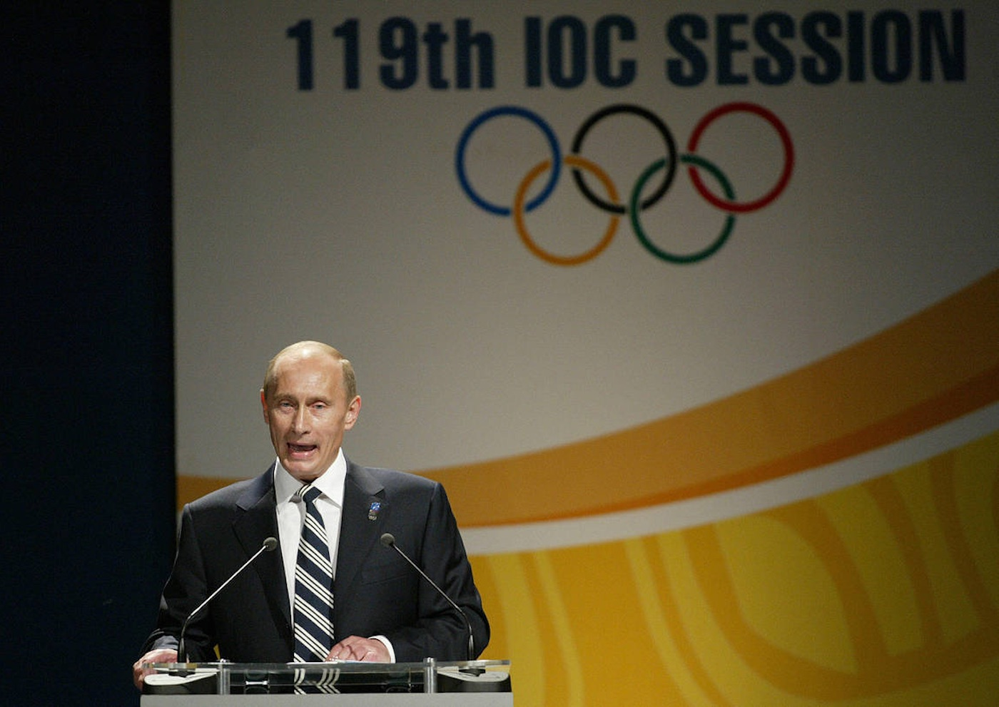 Vladimir Putin's speech in English at the 2007 IOC Session took Sochi over the line to become the host of the 2014 Olympic Winter Games. |Photo: The Wall Street Journal
