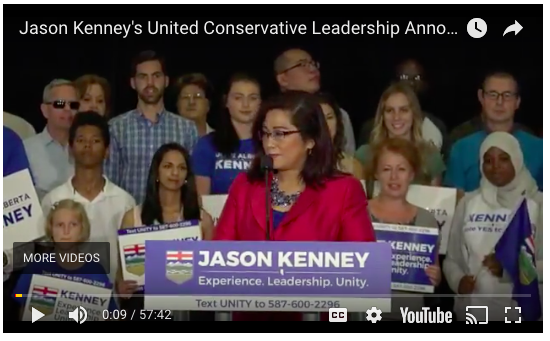 Josephine Pon at Jason Kenney leadership announcement