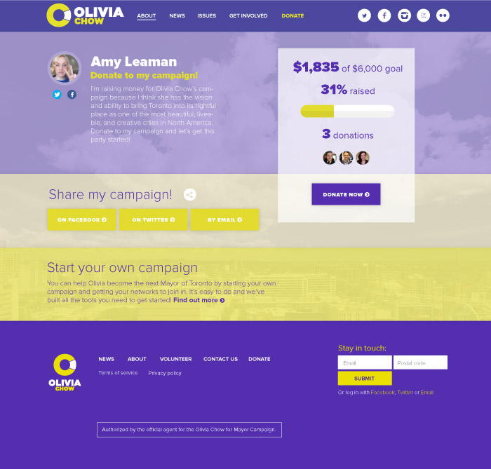 Olivia Chow Personal Fundraising Page