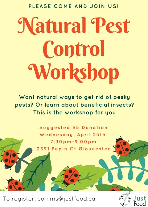 Natural Pest Control Workshop Poster