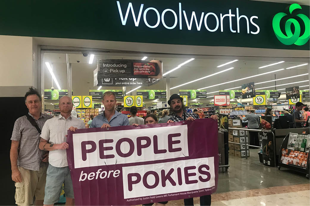 Greens call on Woolworths to exit pokies business - Justin Field