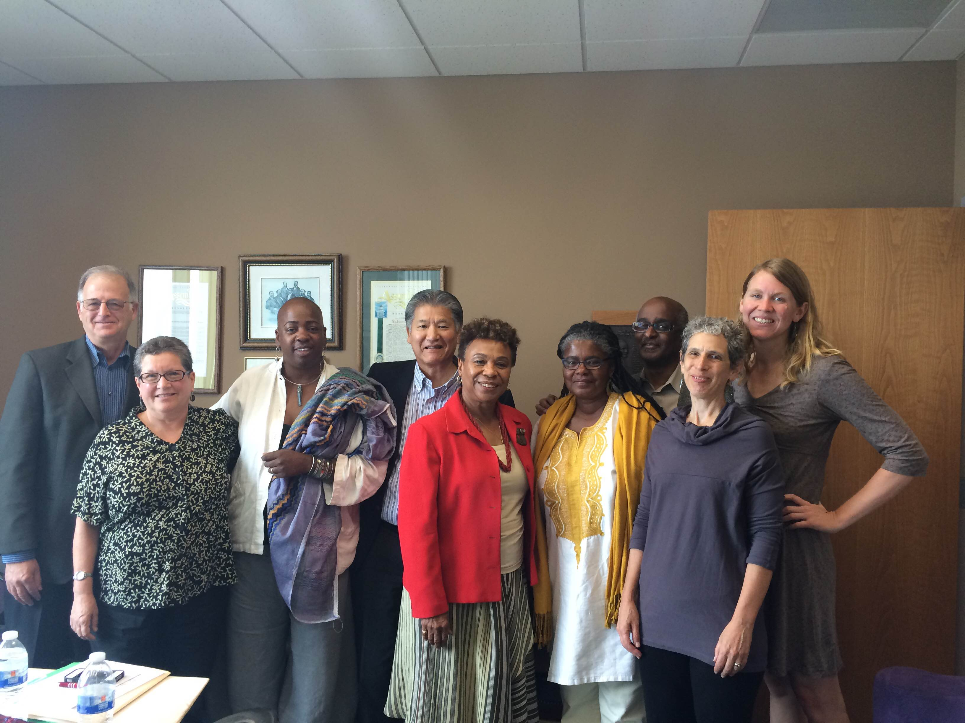 Interfaith delegation and Barbara Lee