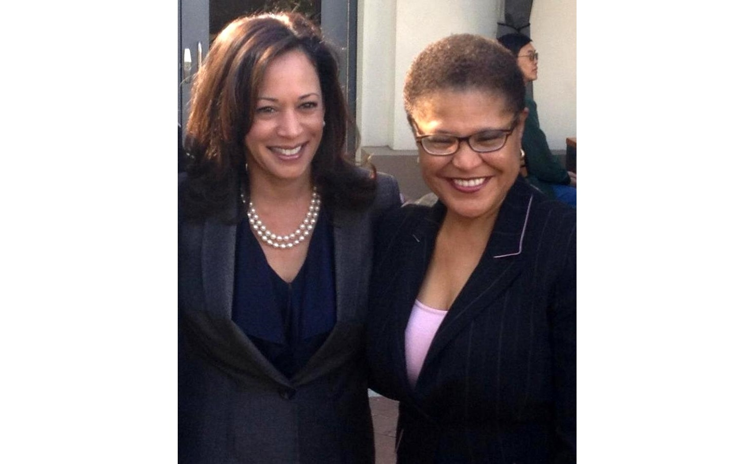 Kamala Harris and Karen Bass