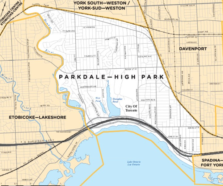 Map for Parkdale-High Park