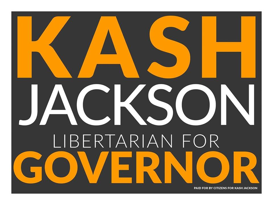Kash Jackson for Governor Yard Sign