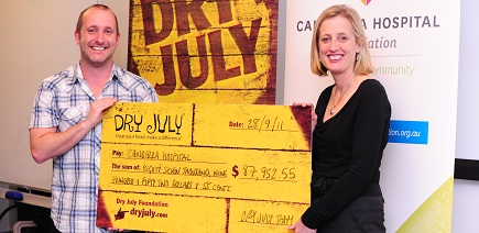 Dry July cheque presentation