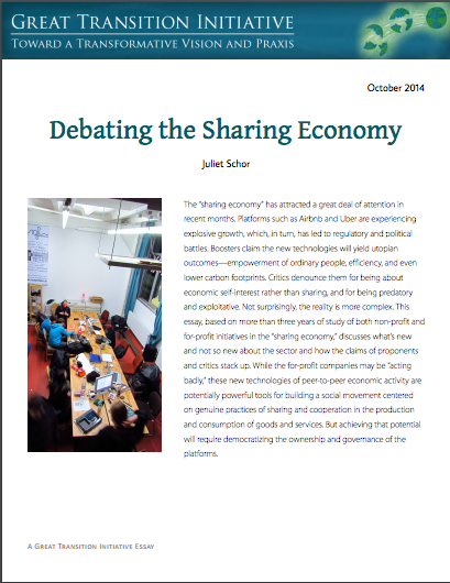 Debating the sharing economy