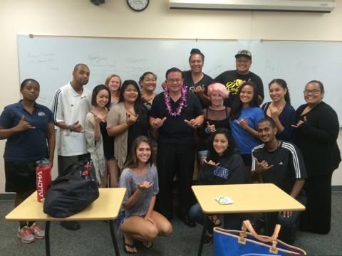 Akina with HPU Students