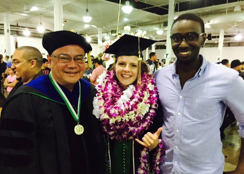 Akina with HPU Graduate