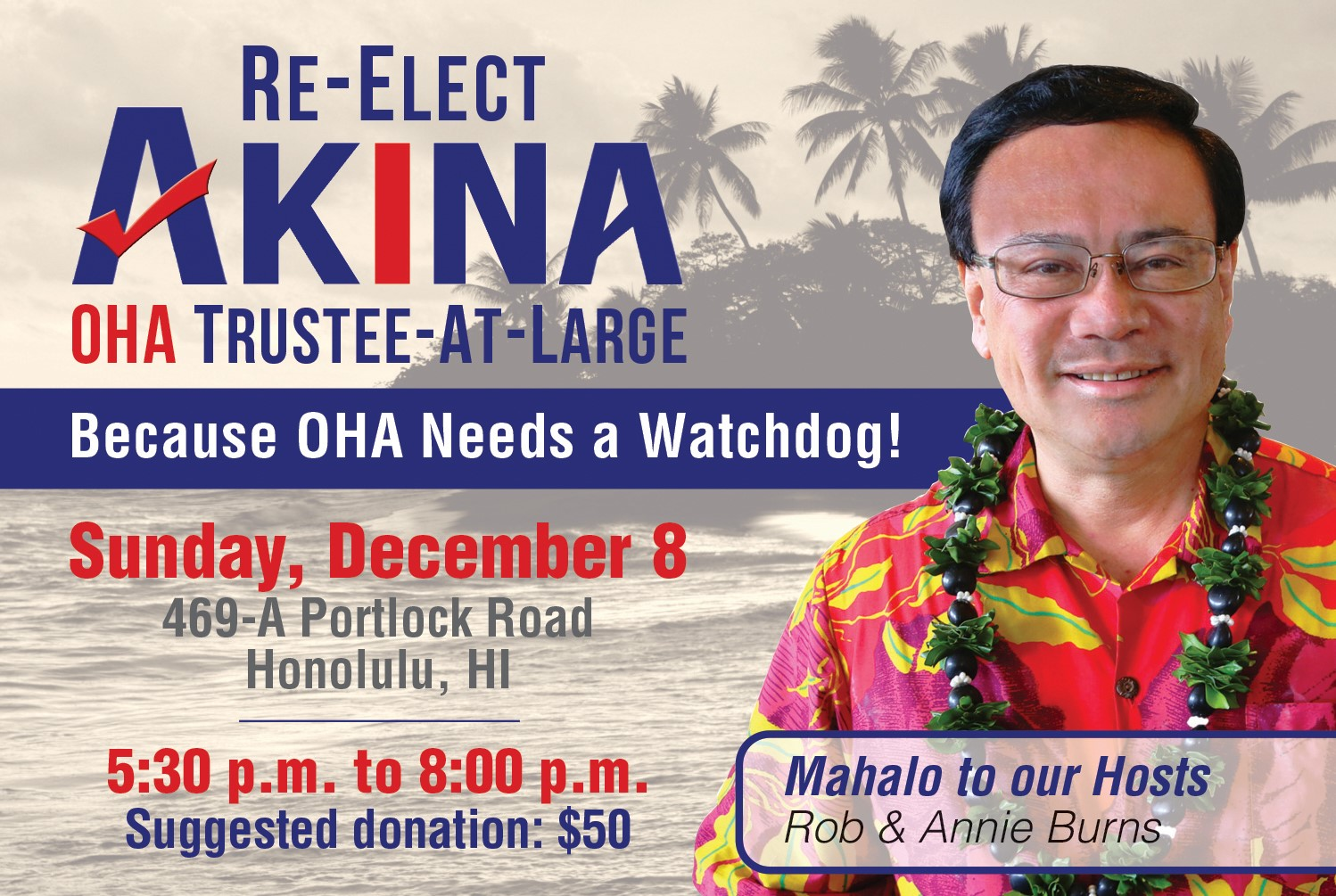 Re-Elect Akina Kickoff Party