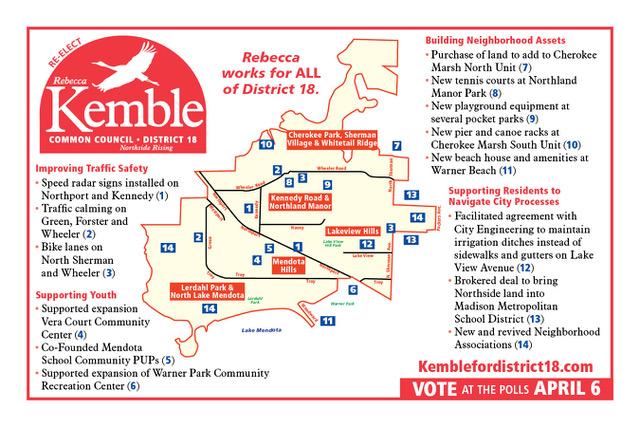 Rebecca Kemble Map