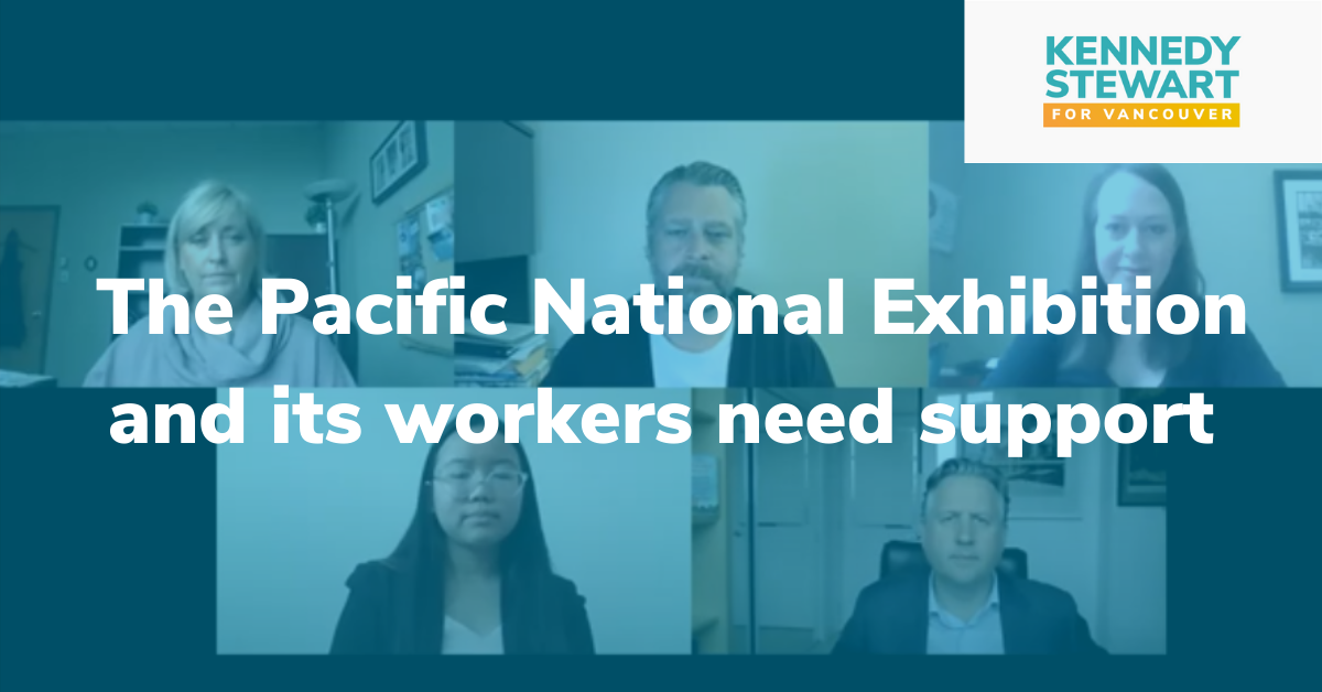 Mayor joins workers in calling for $8 million in provincial aid to the Pacific National Exhibition
