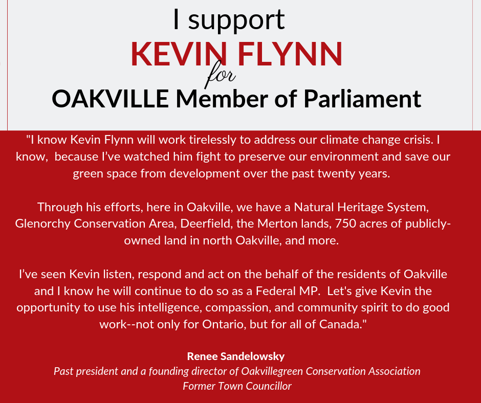 Renee supports Kevin Flynn for Oakville
