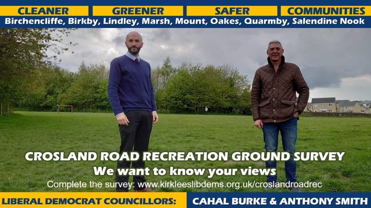 Crosland Road Rec Survey
