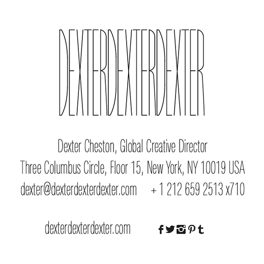 Business Card Design for DEXTERDEXTERDEXTER, based out of NYC. Created by Straub Creative Company at www.straubcreative.co