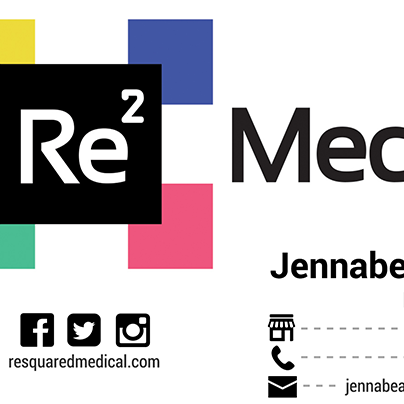 Business Card Design for ReSquared Medical based out of Las Vegas, NV. Created by Straub Creative Company at www.straubcreative.co