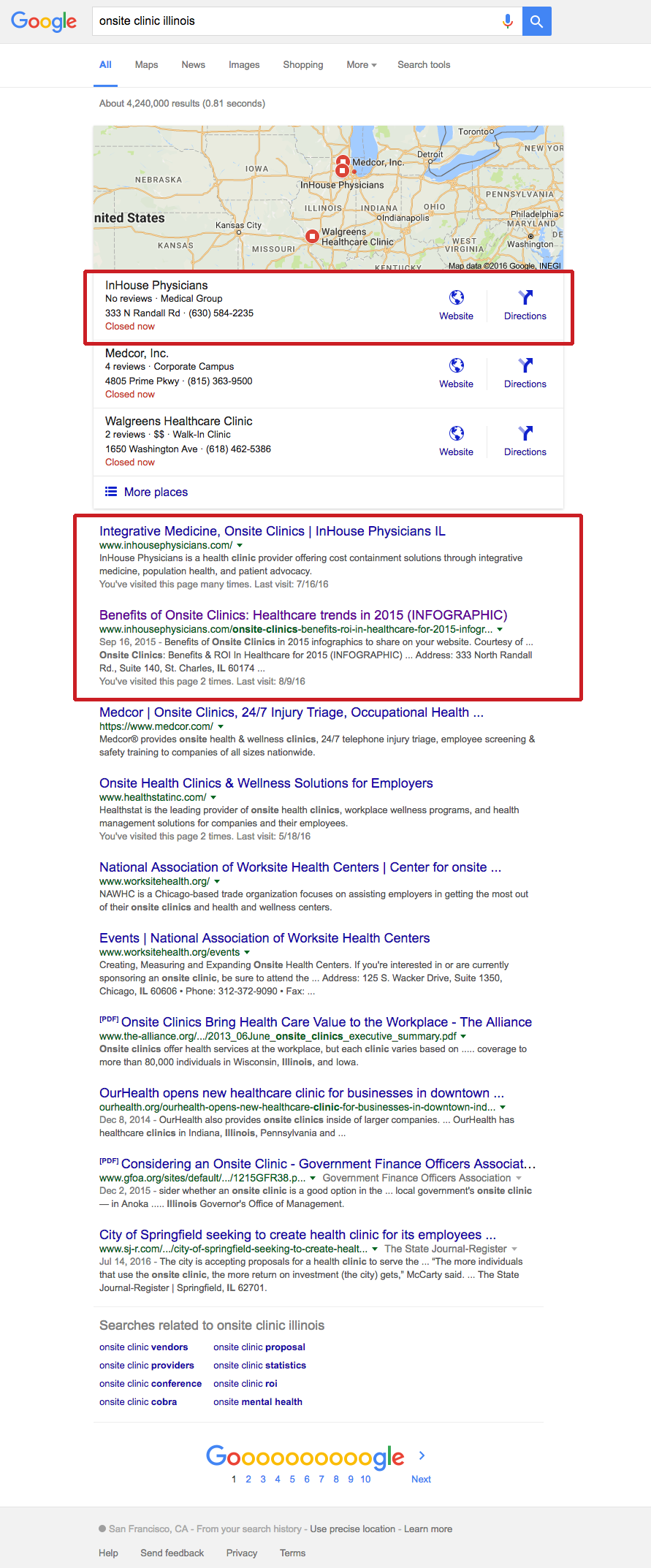 Top search engine local rankings for IHP on Google. Read the case study at www.straubcreative.co