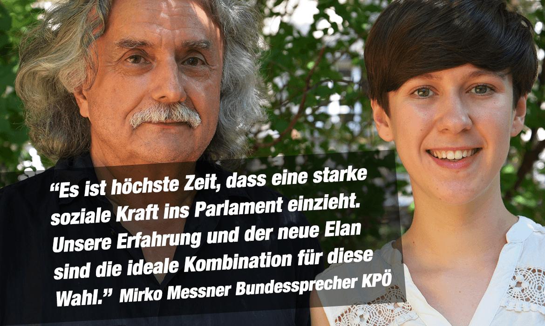 Mirko Messner und Flora Petrik