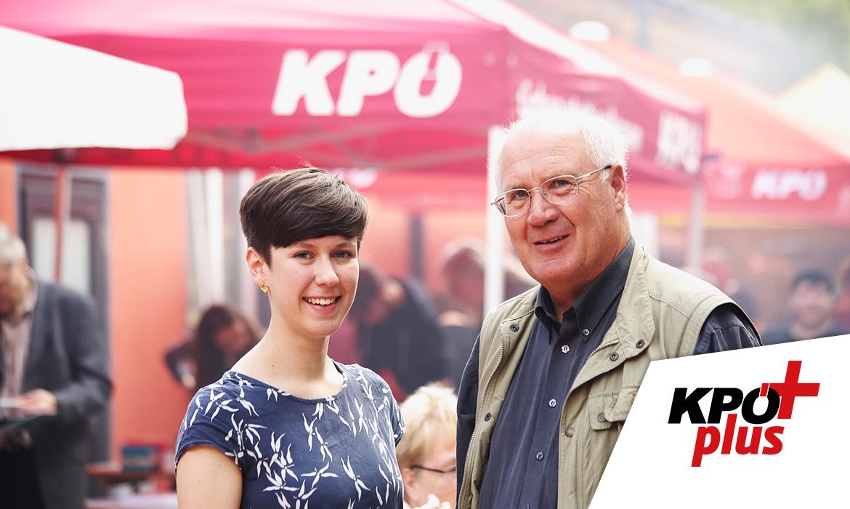 Interview Flora Petrik/Ernest Kaltenegger. Foto: (c) J.J. Kucek