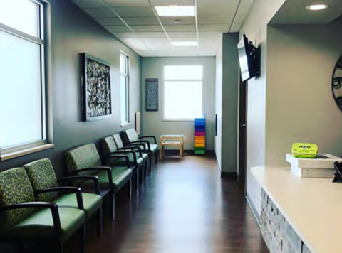 waiting room in a clinic