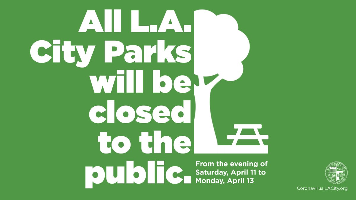 Parks are closed this weekend only.