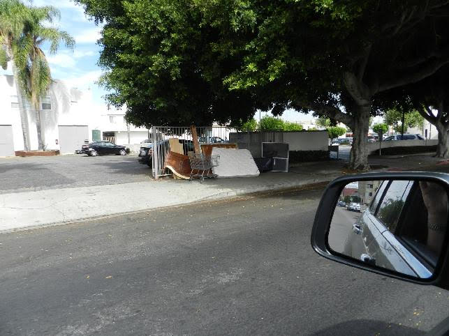 illegal dumping on sidewalks