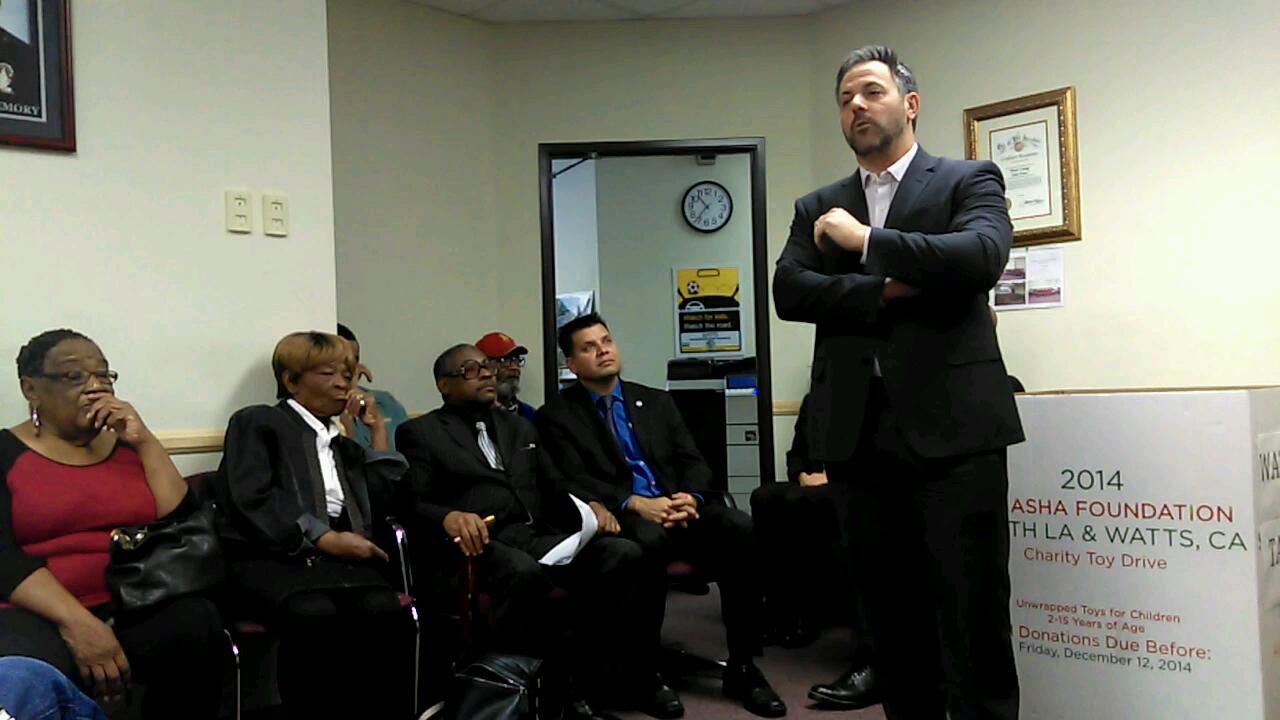 CM Buscaino at Watts Gang Taskforce Meeting