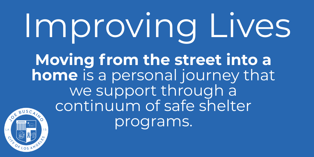 Moving from the street into a home is a personal journey that we support through a continuum of safe shelter programs.