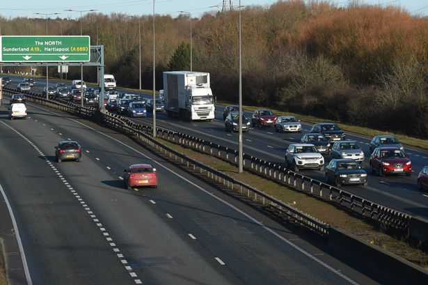 Traffic-queues-past-Billingham-on-tha-A19-southbound-following-a-collision-between-two-cars-near-Por.jpg