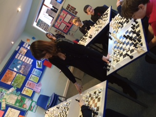 Rachel playing Chess