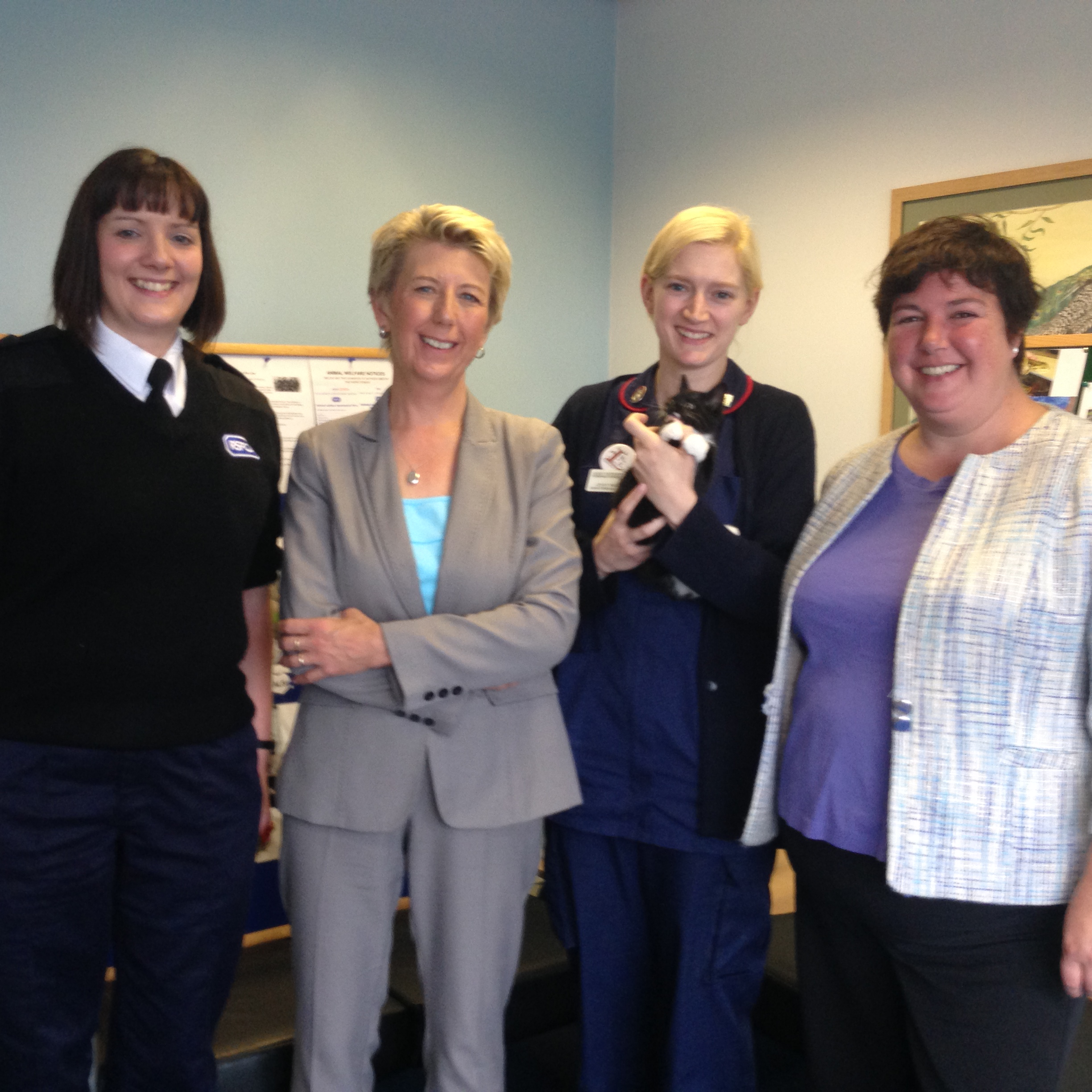 RSPCA_Inspector__Angela_Smith_MP__veterinary_nurse_from_Jacqui_Patersons__Louise_Baldock_and_a_small_kitten.jpg