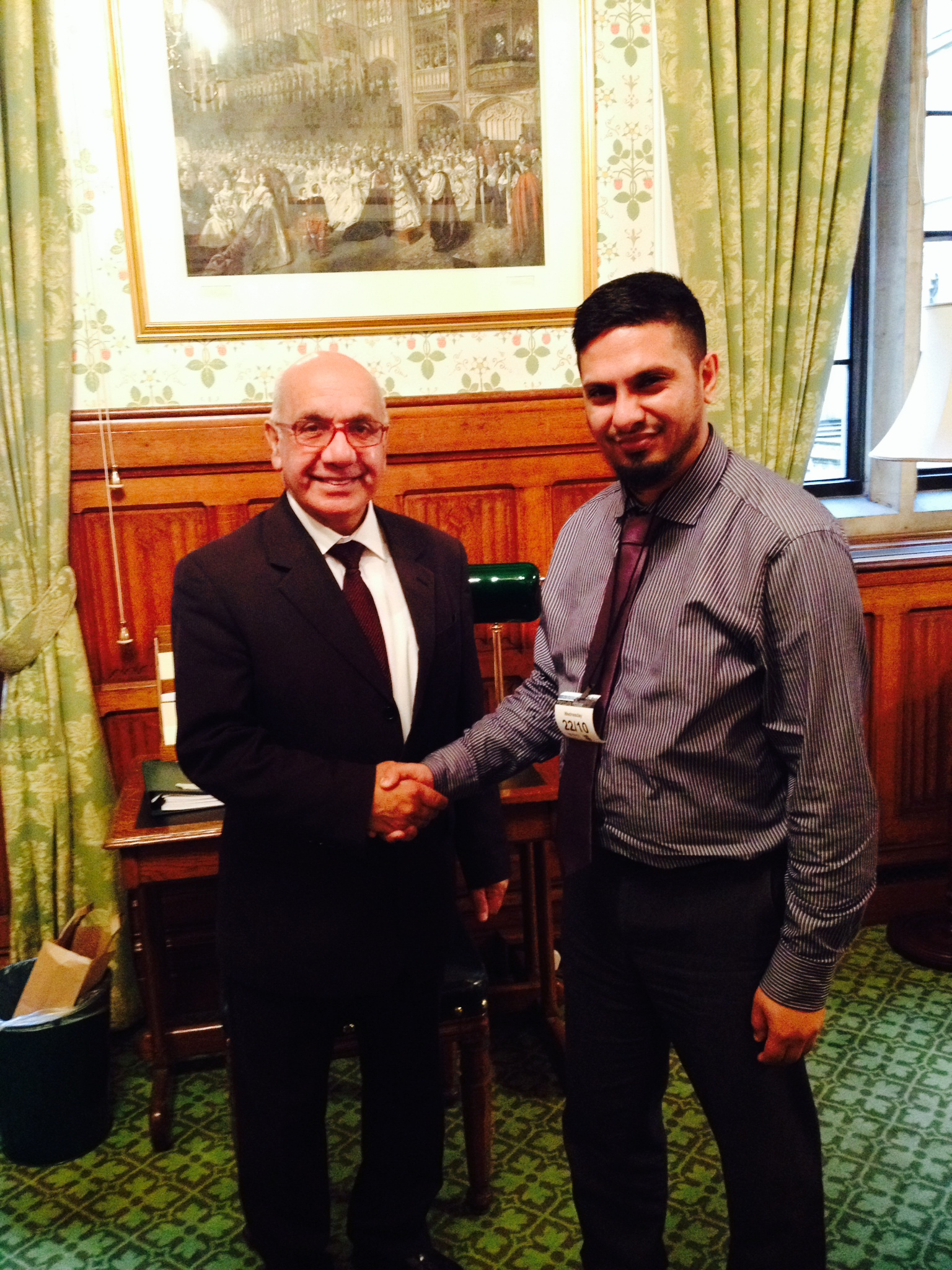 2014.10.22_Ismail_Kaji_from_Mencap_meeting_Mr_Sharma_MP.JPG