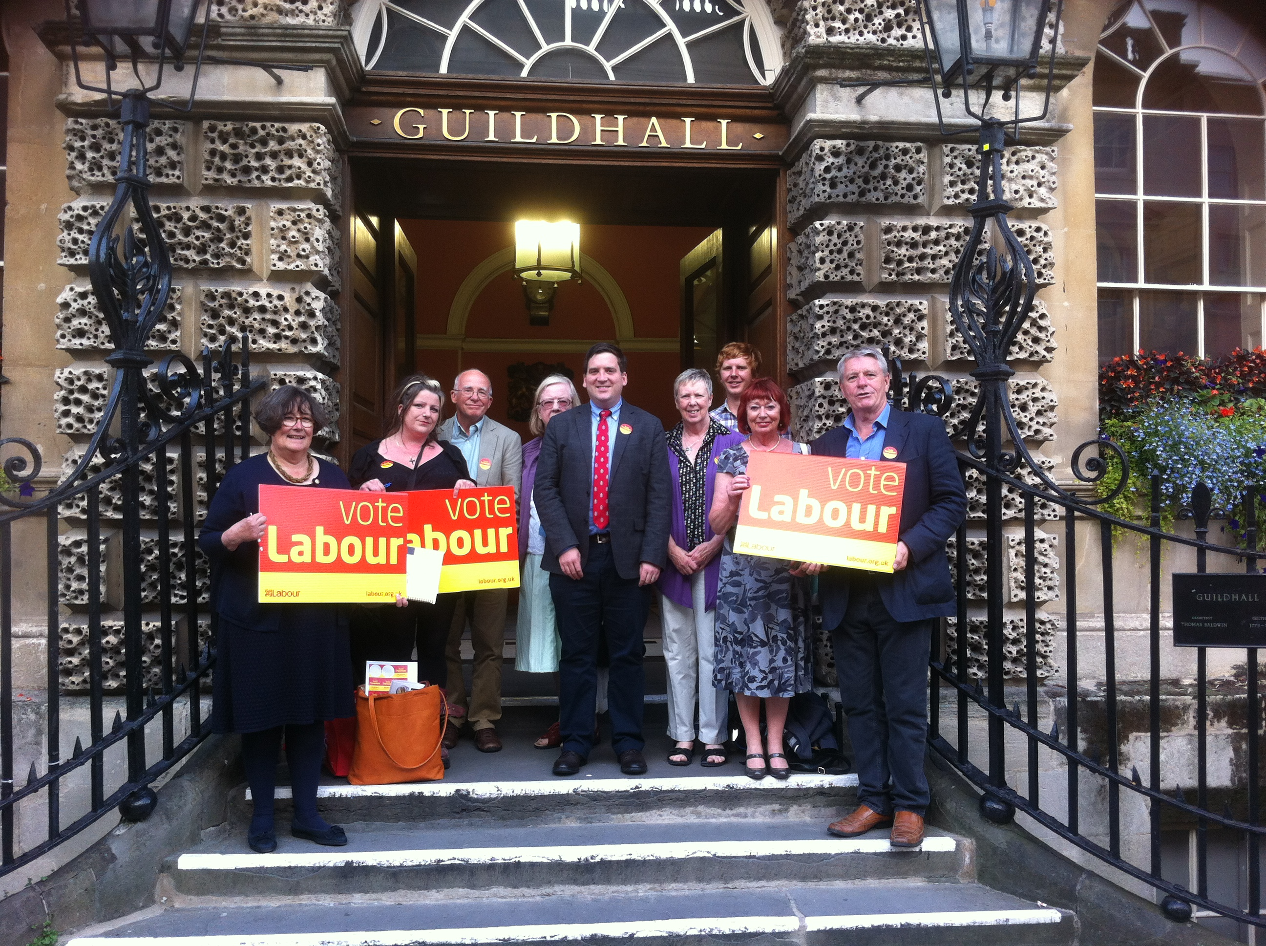 Labour activists before the meeting